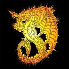 Drago d'Oro Simbolo-Golden Dragon Symbol Background-2012