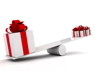 gifts on seesaw