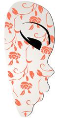 Beautiful floral carnival mask