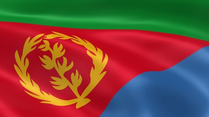 Eritrean flag in the wind