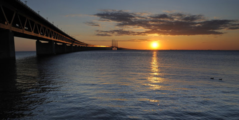 Oresund's bridge in panoramic view