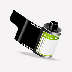 Vector Roll of Camera Film