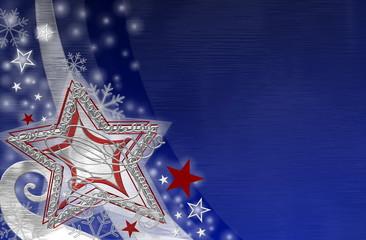 Weihnachtsstern im blauen Htgr.