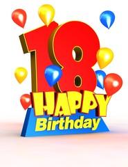 18 happy birthday