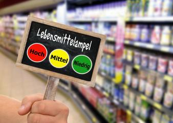 Lebensmittelampel zur Lebensmittelkennzeichnung