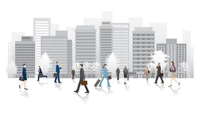 ビジネス街の人々