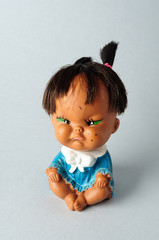Oriental doll angry expression
