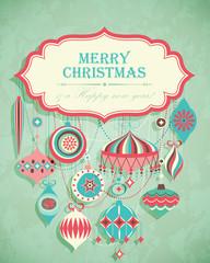 Wall Mural - Funny Christmas postcard