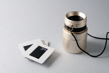 Optical viewfinder slide