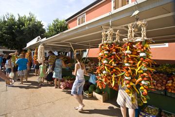 People on Novigrad market