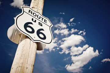 Canvas Prints Route 66 Historic route 66 route sign
