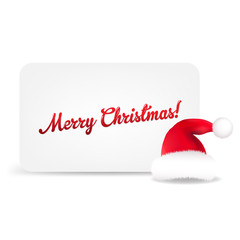 Santa Hat And Blank Gift Tag