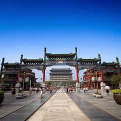Aluminium Prints Peking beijing qianmen street