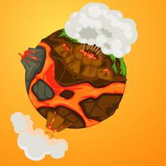 volcano earth