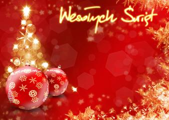 Kartka świąteczna - Wesołych świąt Bożego Narodzenia - fototapety na wymiar