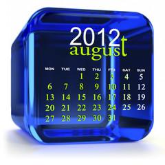 Blue August Calendar
