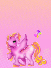 Foto op Textielframe Pony little pony