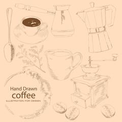 Coffee - hand drawn