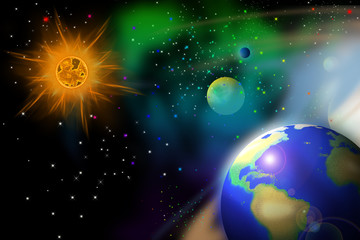 Earth's orbit.