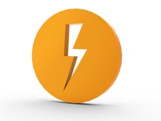 3d Icon Blitz orange