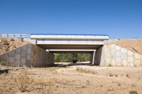 Wildlife crossing at A-15 Motroway, Soria, Spain