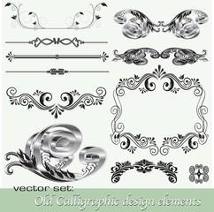 Calligraphic design elements 14