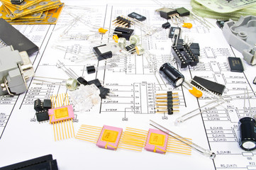 Radio components against electrical circuit