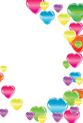 Beautiful Valentine's background with colorful hearts