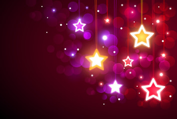 Wall Mural - Christmas background with stars