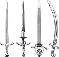 Different set of swords