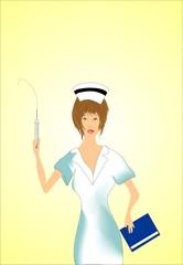 Obraz pielęgniarka - fototapety do salonu