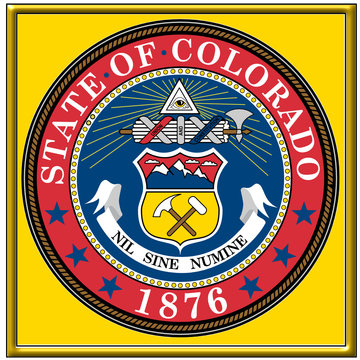 usa states city county colorado emblem coat seal