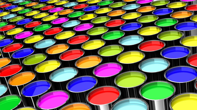 Metallic paint containers