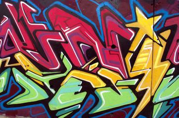 Graffiti estrella. Arte urbano