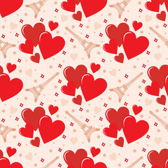 Seamless hearts pattern. vector