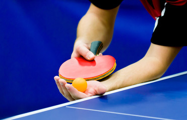 service on table tennis
