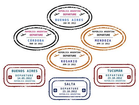 Visa stamps - Argentina