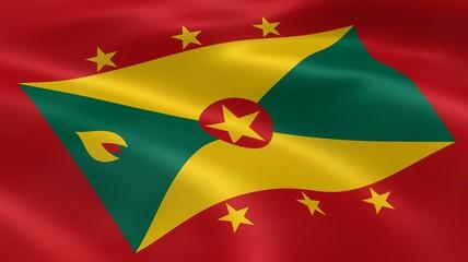 Grenadian flag in the wind
