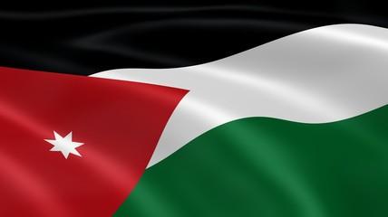 Jordanian flag in the wind
