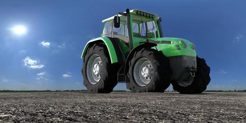 traktor auf dem feld V2