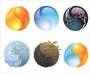 Esferas multiples para logotipos