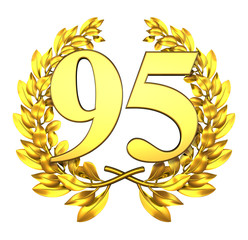95 ninetyfive number laurel wreath