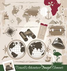 Travel and Adventure Design Elements
