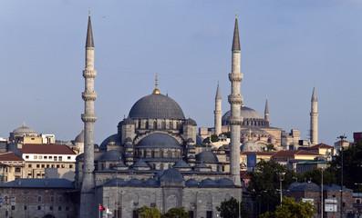Blue mosque and Hagia Sofia, Istanbul, Turkey