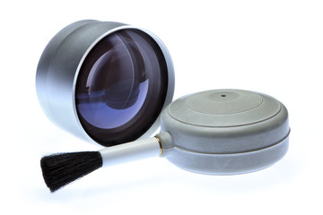 Photographic Lens with Cleaning Tool