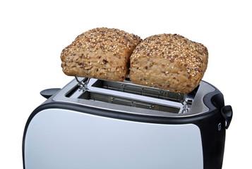 Toaster mit Brötchen