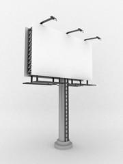 3D Blank billboard,isolated