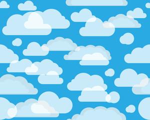 Photo sur Aluminium Ciel Clouds on green-blue sky. seamless background