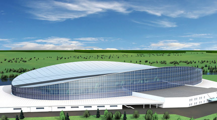 Sports stadium model