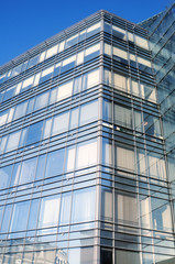 Angle of glass building